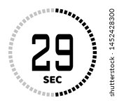 the 29 second countdown timer...