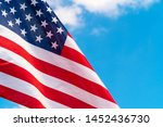 american flag waving in the... | Shutterstock . vector #1452436730
