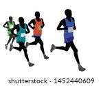 group of marathon runners... | Shutterstock .eps vector #1452440609