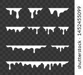 white melt drips  milk or... | Shutterstock .eps vector #1452455099