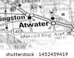 atwater. california. usa on a... | Shutterstock . vector #1452459419