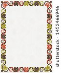 vertical frame of brown  red... | Shutterstock . vector #1452466946