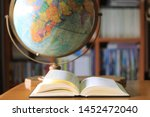 close up open books on the... | Shutterstock . vector #1452472040