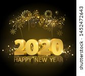 happy new year 2020 background. ... | Shutterstock .eps vector #1452472643