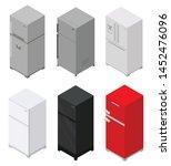 fridge icons set. isometric set ...   Shutterstock .eps vector #1452476096