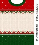 ugly sweater merry christmas... | Shutterstock .eps vector #1452483239