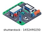 modern petrol station concept...   Shutterstock .eps vector #1452490250