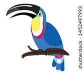 wildlife toucan icon. cartoon... | Shutterstock .eps vector #1452497993