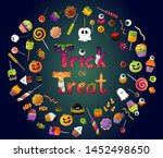 set of colorful halloween... | Shutterstock .eps vector #1452498650