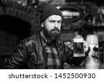 brutal hipster relaxing. guy... | Shutterstock . vector #1452500930