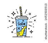soft drink line icon. soda... | Shutterstock .eps vector #1452503513