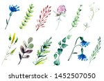 hand drawn watercolor... | Shutterstock . vector #1452507050