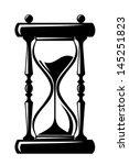 Hourglass. Vector Black...