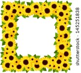 Sunflowers Frame. Vector...