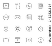 system ui thin line icons set....