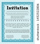 light blue retro invitation... | Shutterstock .eps vector #1452522806