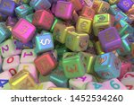 background abstract  cube or... | Shutterstock . vector #1452534260