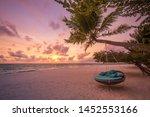 Tropical Beach Sunset As Summer ...