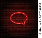 neon speech bubble frame sign....