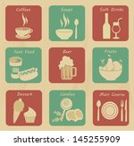food and drinks icons over... | Shutterstock .eps vector #145255909