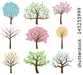 vector collection of tree... | Shutterstock .eps vector #145255999