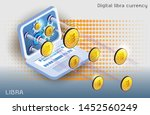 digital currency created by... | Shutterstock .eps vector #1452560249