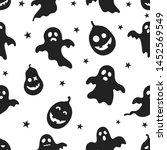 seamless pattern happy... | Shutterstock .eps vector #1452569549