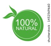 100  natural green icon....   Shutterstock .eps vector #1452569660