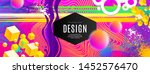 abstract design with... | Shutterstock .eps vector #1452576470