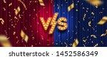 lightbulbs letters versus logo  ... | Shutterstock .eps vector #1452586349