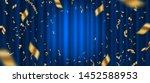 spotlight on blue curtain... | Shutterstock .eps vector #1452588953