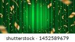 spotlight on green curtain...   Shutterstock .eps vector #1452589679