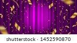 spotlight on purple curtain... | Shutterstock .eps vector #1452590870