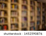 blurred background. library ... | Shutterstock . vector #1452590876