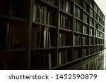 blurred background. library ... | Shutterstock . vector #1452590879