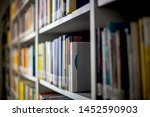 blurred background. library ... | Shutterstock . vector #1452590903
