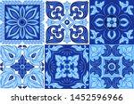 italian ceramic tile pattern....   Shutterstock .eps vector #1452596966