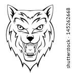 wolf howling | Shutterstock . vector #145262668