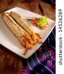 mexican hot chicken burritos...   Shutterstock . vector #14526289