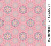 vintage style detailed seamless ... | Shutterstock . vector #1452630779