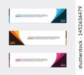 modern style of web banner... | Shutterstock .eps vector #1452636479