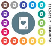 nine of hearts card flat white... | Shutterstock .eps vector #1452647696