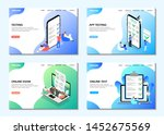 landing pages. online test ... | Shutterstock .eps vector #1452675569