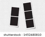 paper photo frame  2 frames  3... | Shutterstock .eps vector #1452680810