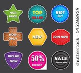 colorful badges | Shutterstock .eps vector #145268929