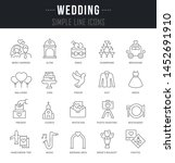 collection linear icons of... | Shutterstock . vector #1452691910