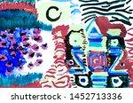 contemporary art. cosmic...   Shutterstock . vector #1452713336