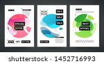 set template design of sale and ... | Shutterstock .eps vector #1452716993