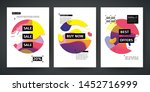 set template design of sale and ... | Shutterstock .eps vector #1452716999