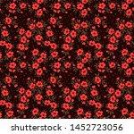 vector seamless pattern. pretty ... | Shutterstock .eps vector #1452723056